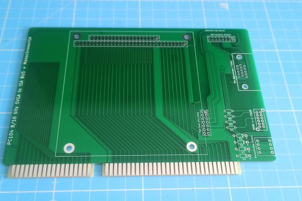 PC104 8/16 bits SVGA to ISA BUS + MonochromeVGA