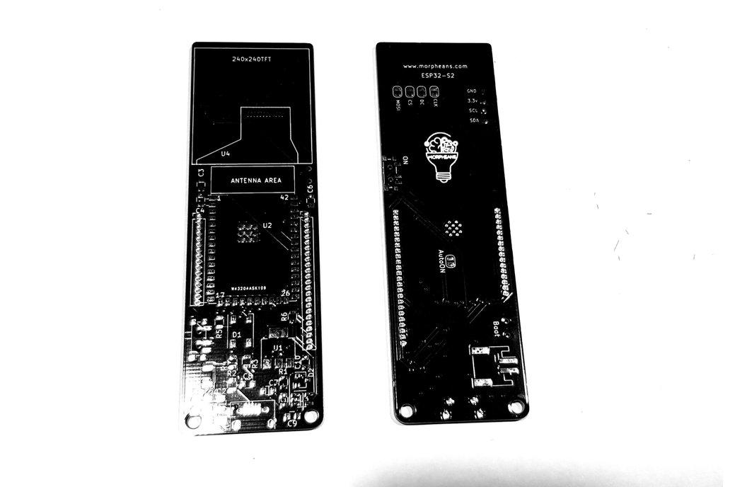 MORPHESP 240 - Dev board PCB ESP32-S2 TFT 1