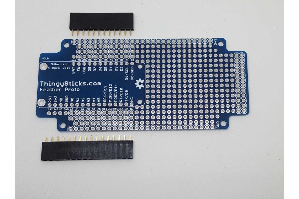 Prototype PCB for Feather boards 1