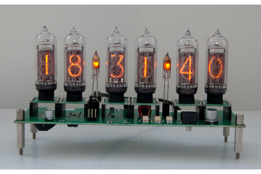 Nixie Clock with 7 replaceable tubes IN-14 1