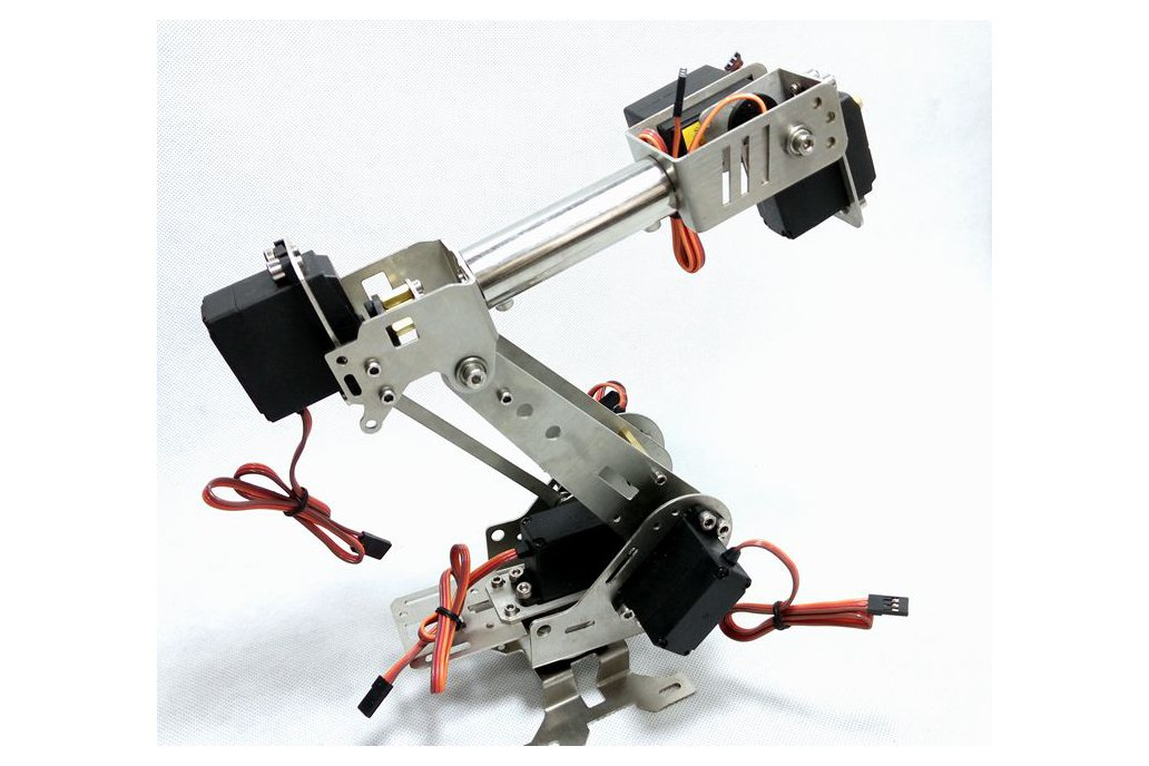 Stainless Steel 6 DoF Metal Robot Arm 4