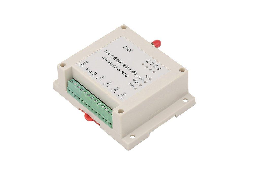 wireless RTU 4AI, 4 analaog inputs module 1w 1