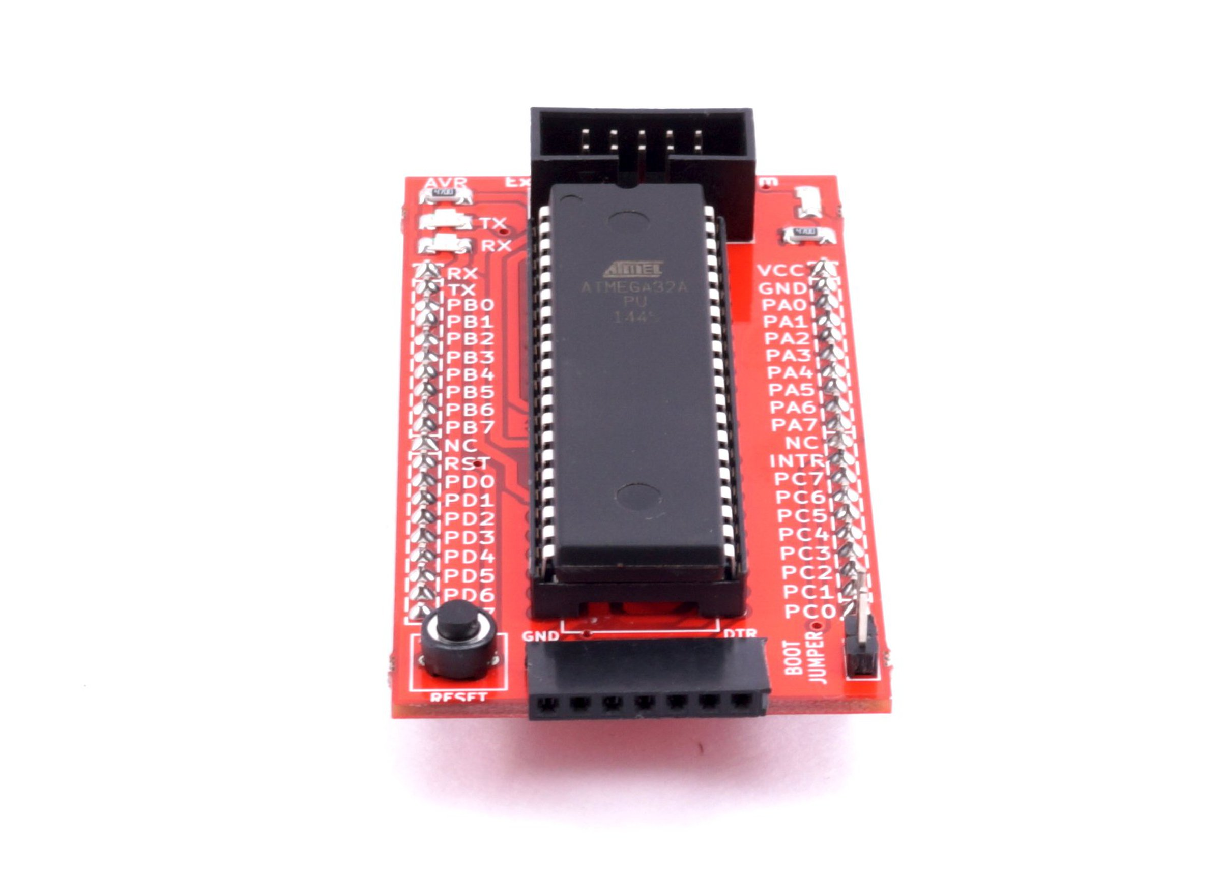 Avr 40 Pin Breakout Board With Atmega32 From Exploreembeddedcom On How To Configure Watchdog Timers Of Microcontroller Atmega16 4