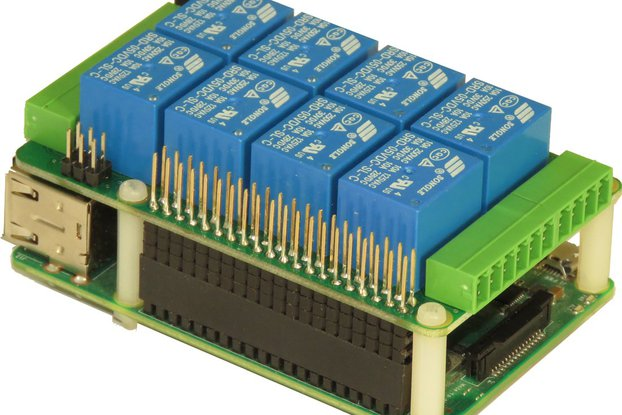 8-RELAYS Stackable Card for Raspberry Pi