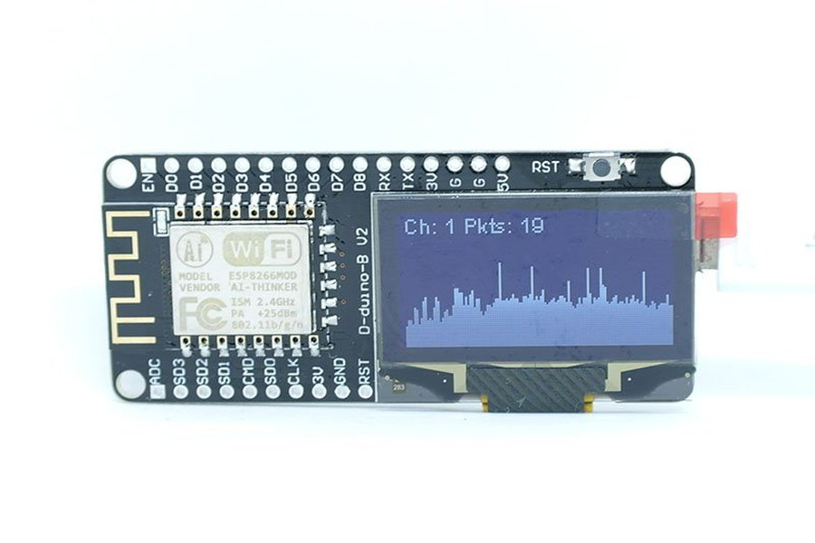 WiFi Packet Monitor (Preflashed D-duino-B)
