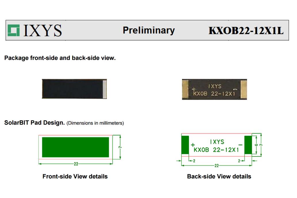 IXYS High Efficiency - 22% Solar BIT cell  2