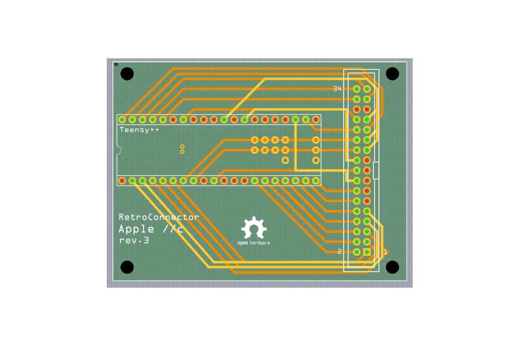 RetroConnector keyboard shield - Apple IIc or IIc+ 4