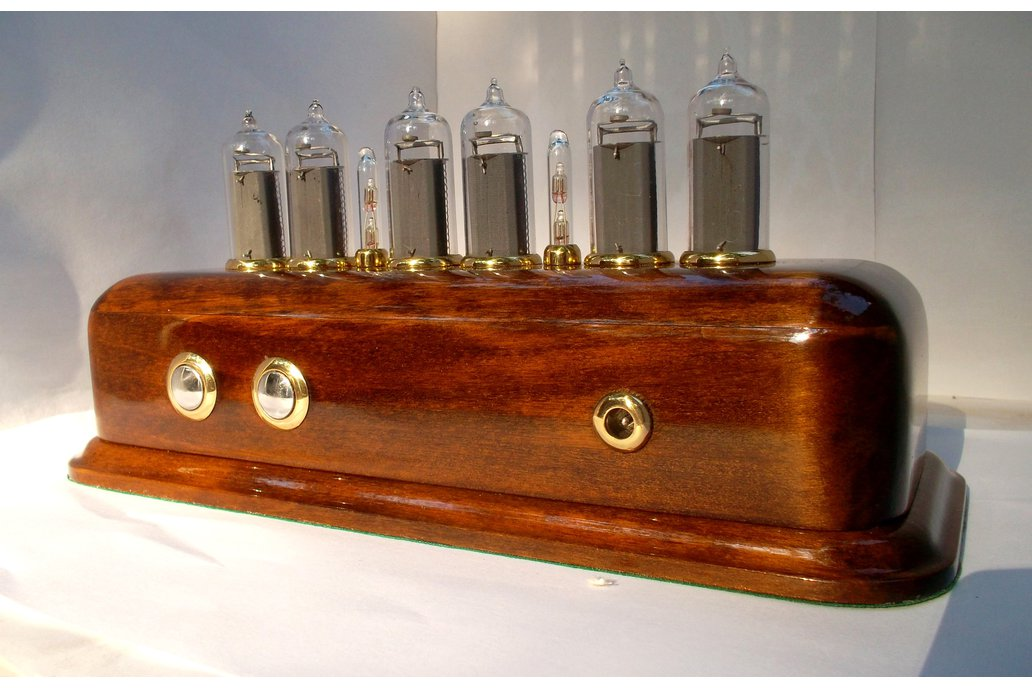 Nixie Clock Vintage style on IN-14 nixies made in USSR 20th century