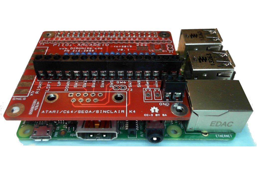 Raspberry PIIO - ArcadeIO add-on board (Kit only) 3