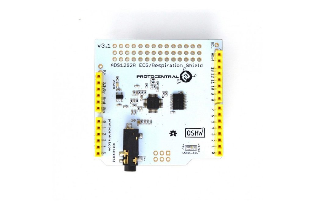 ADS1292R ECG/Respiration shield for Arduino-v2 3