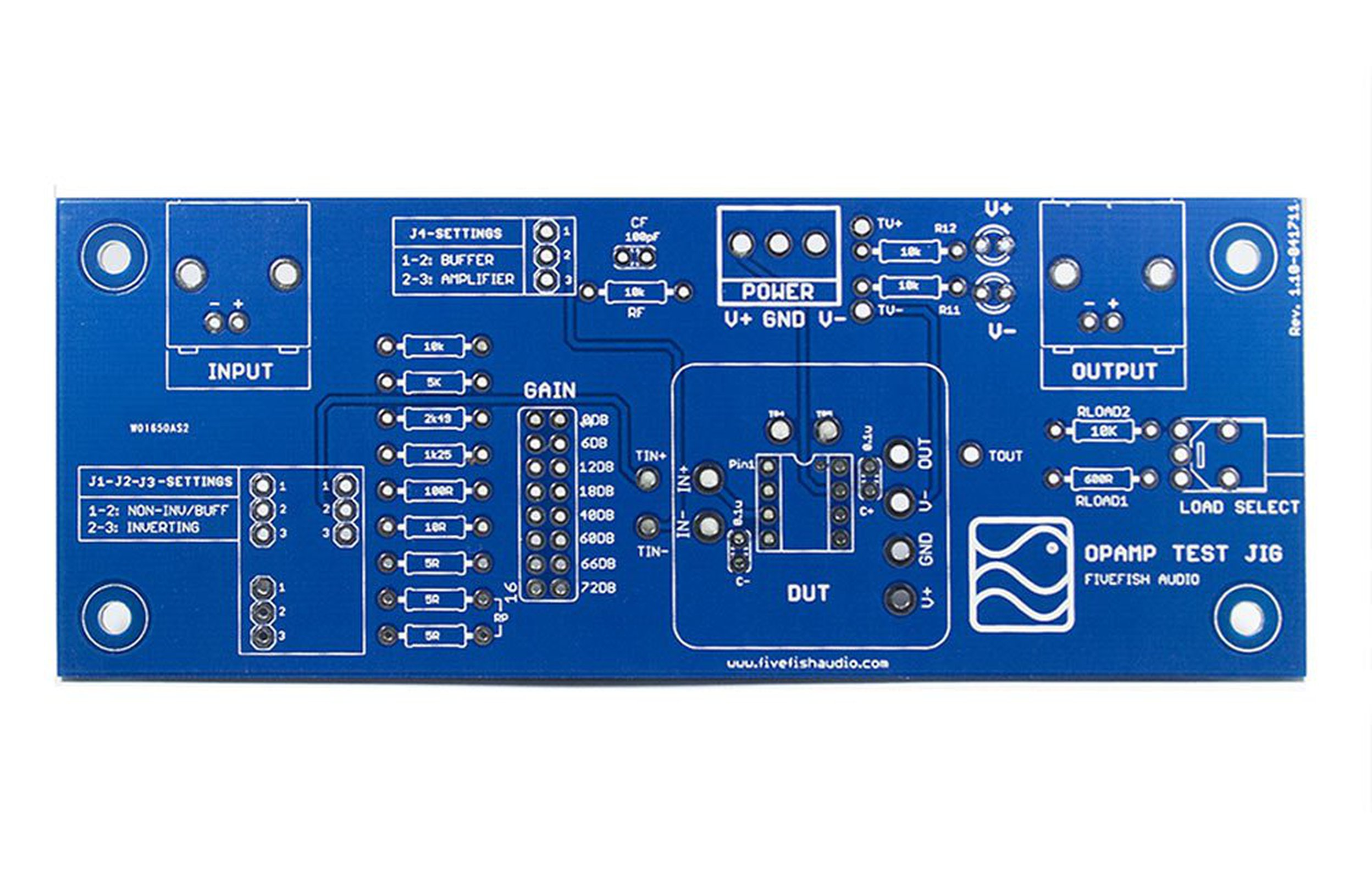 Opamp Test Jig Pcb For Pdip8 Discrete Opamps From Fivefish Audio The Inverter Circuit 4