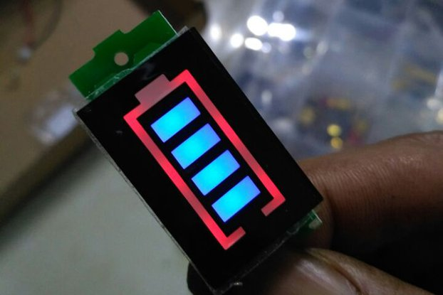 Battery Electricity Quantity Blue Display(10945)