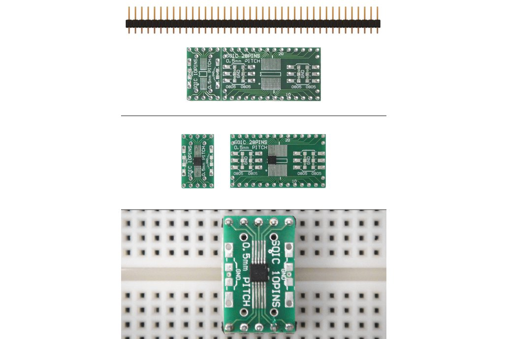 SchmartBoard|ez 0.5mm Pitch SOIC to DIP adapter 1