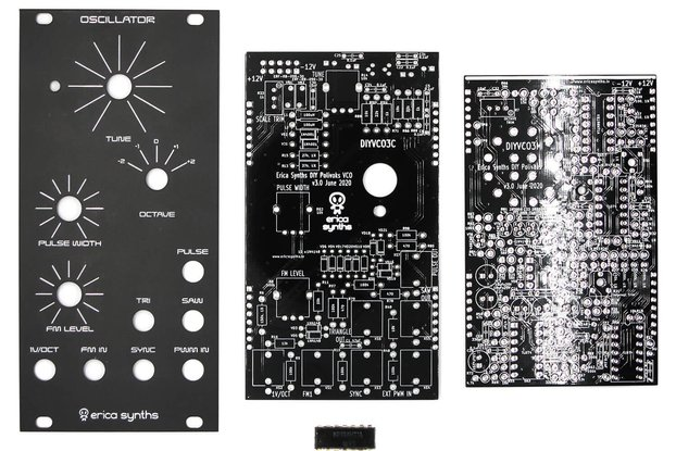 Erica Synths Polivoks VCO PCBs, Panel and ICs