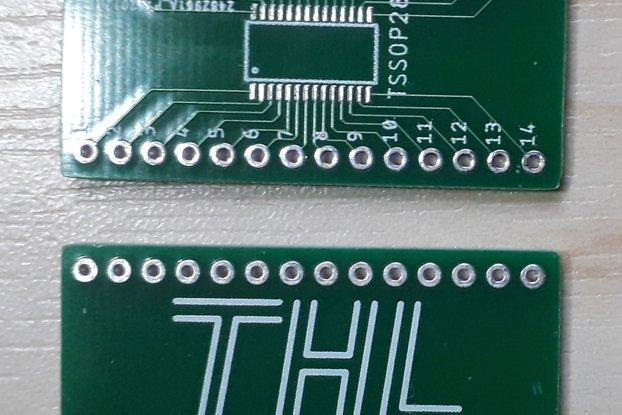 TSSOP28 breadboard adapter