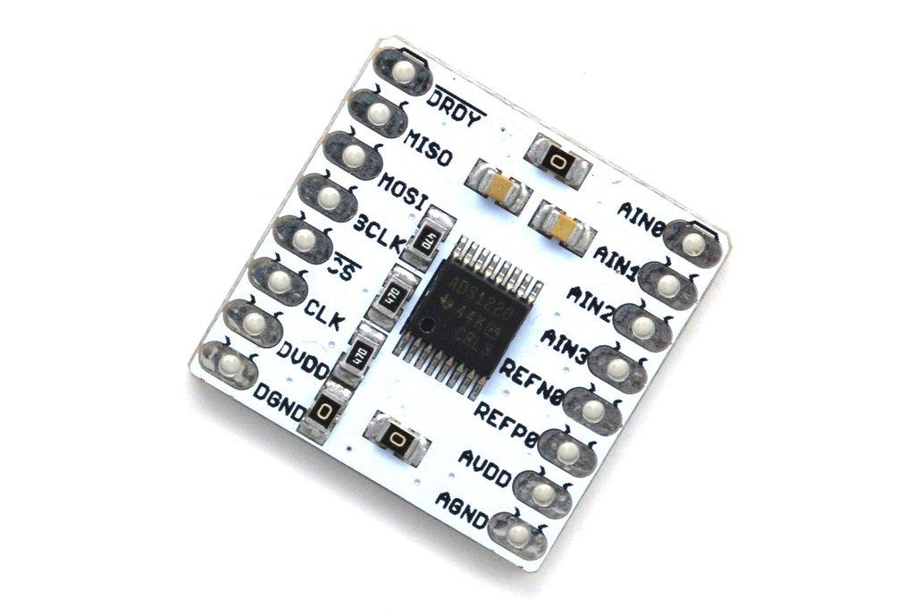 ADS1220 24-bit, 4-channel Low noise breakout board 5