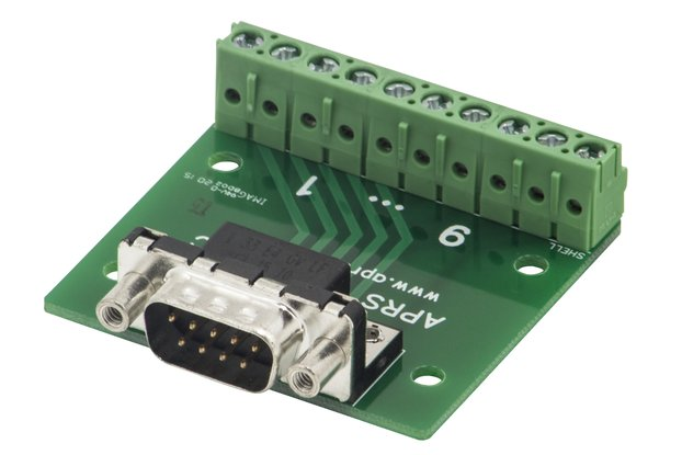 DB9 breakout board to screw terminals