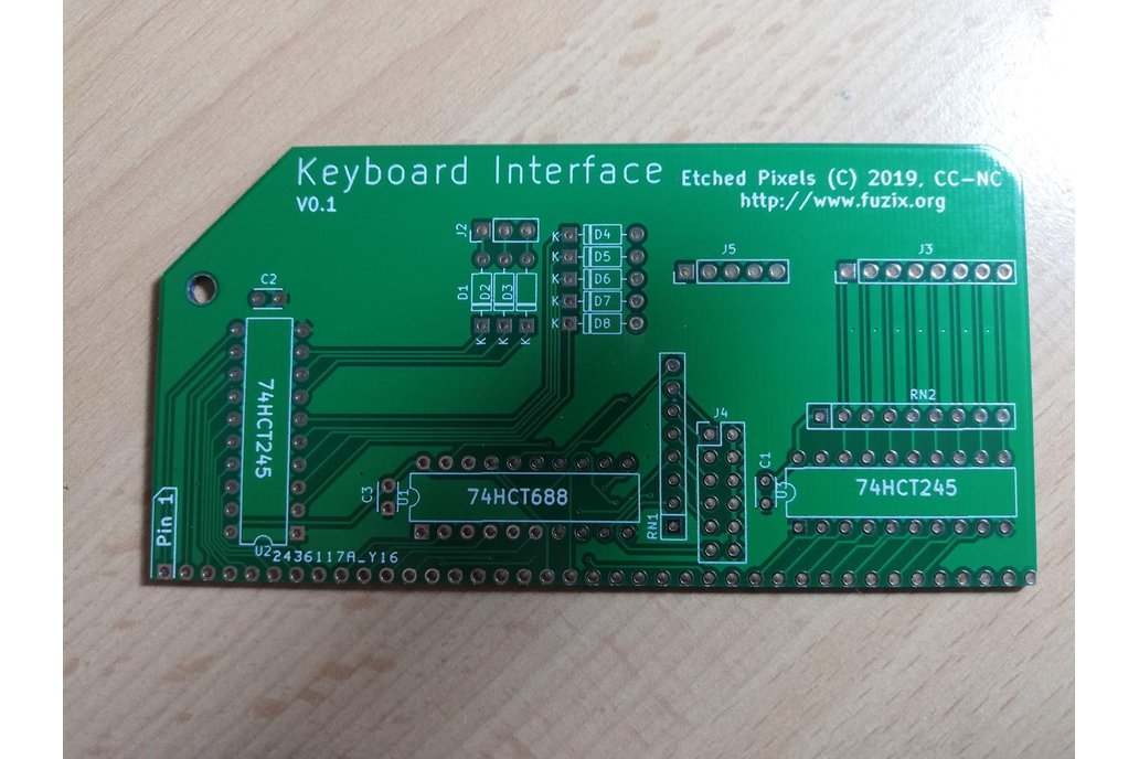 ZX81 Keyboard Interface for RC2014™ PCB only 1