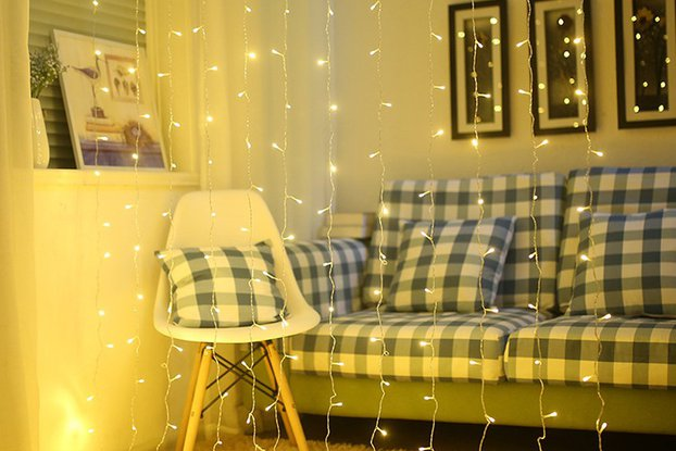 Festival decoration curtain lights