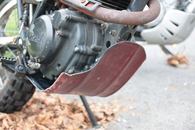 Yamaha XT200 50/50 Carbon/Kevlar Skid-Plate