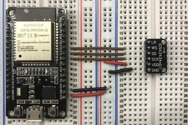 ICS-43434 I2S MEMS Microphone Breakout Board