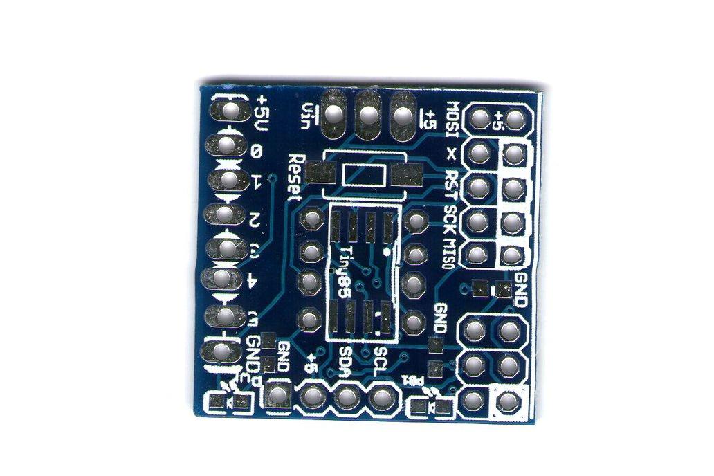 AtTiny85 programmer runtime, breadboard , bare pcb 1