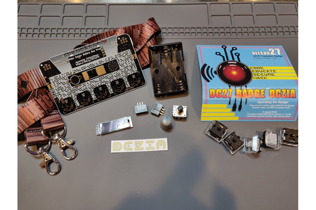 DCZia Laser Theremin complete badge kit 1