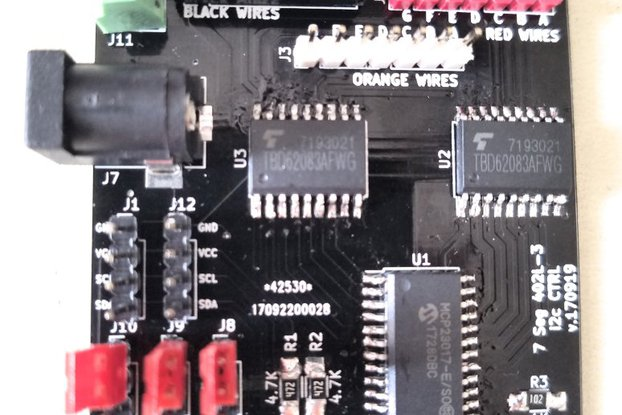 Sig7Seg - i2c controller for mechanical 7 segment