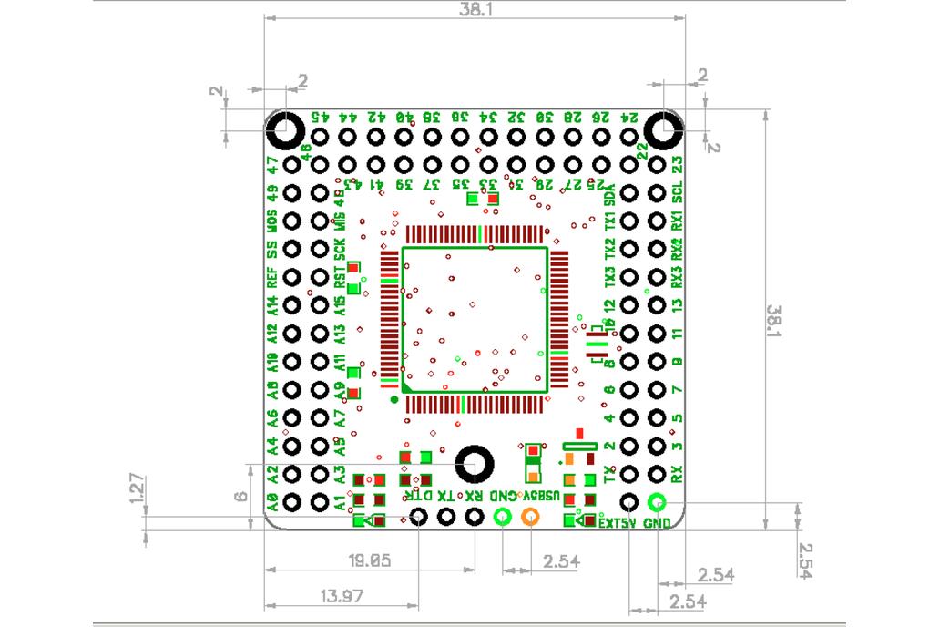 Naked Mega, an Arduino Mega 2560 compatible board 3