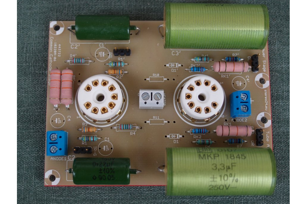 Universal PCB for tube preamp CCDA stage ECC88 6