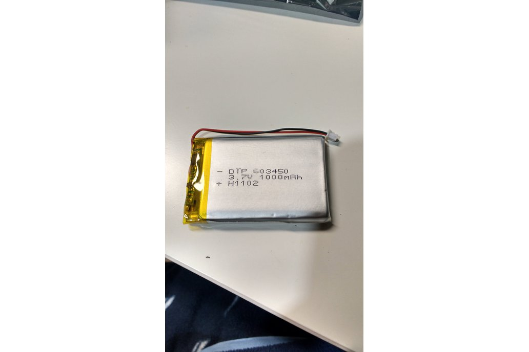 1000mAh UL certified lithium ion battery 4.2V Max 1