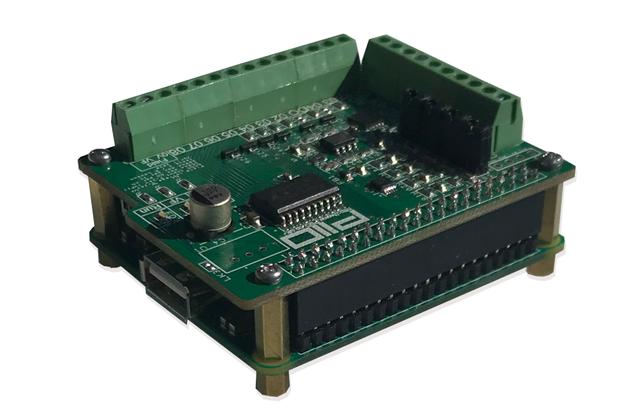 Raspberry Pi PiIO analog / digital IO board