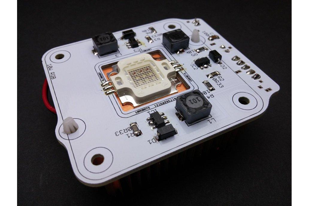 10W High Power RGB LED Module With Heatsink & Fan 5