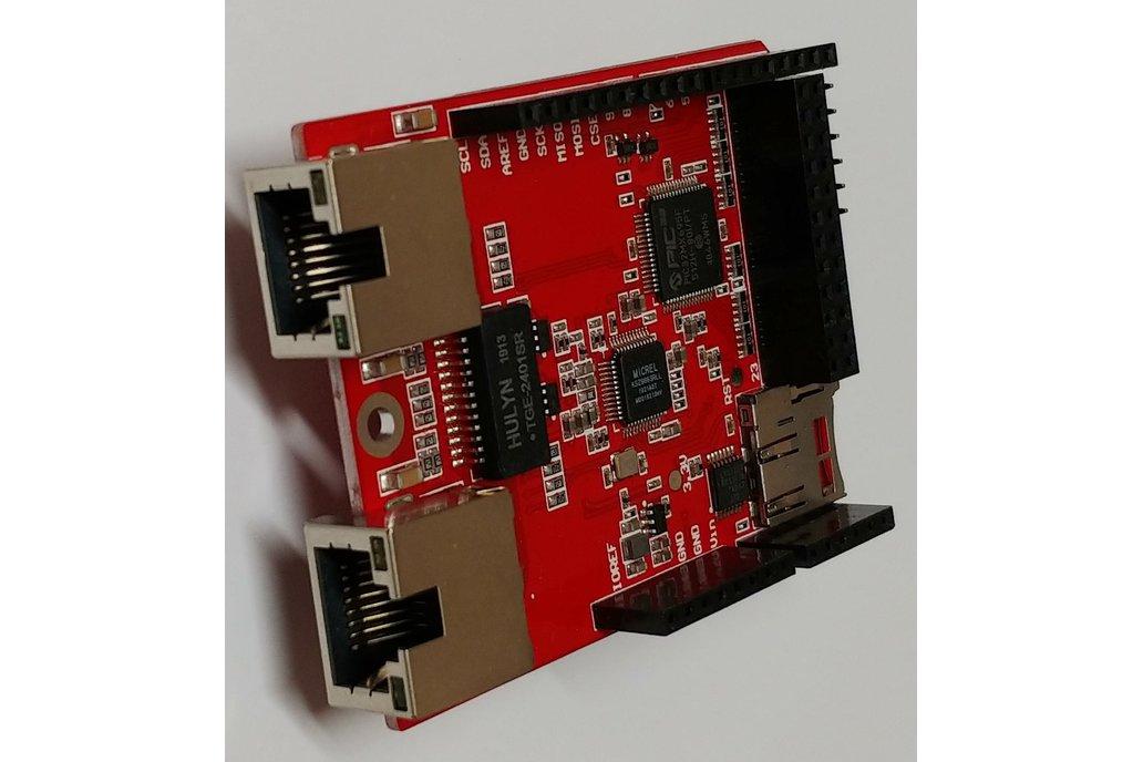 2 Port Ethernet Shield Arduino Hardware Compatible 1