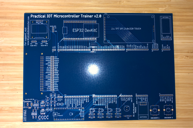 Practical IOT's Microcontroller Trainer - PCB Only