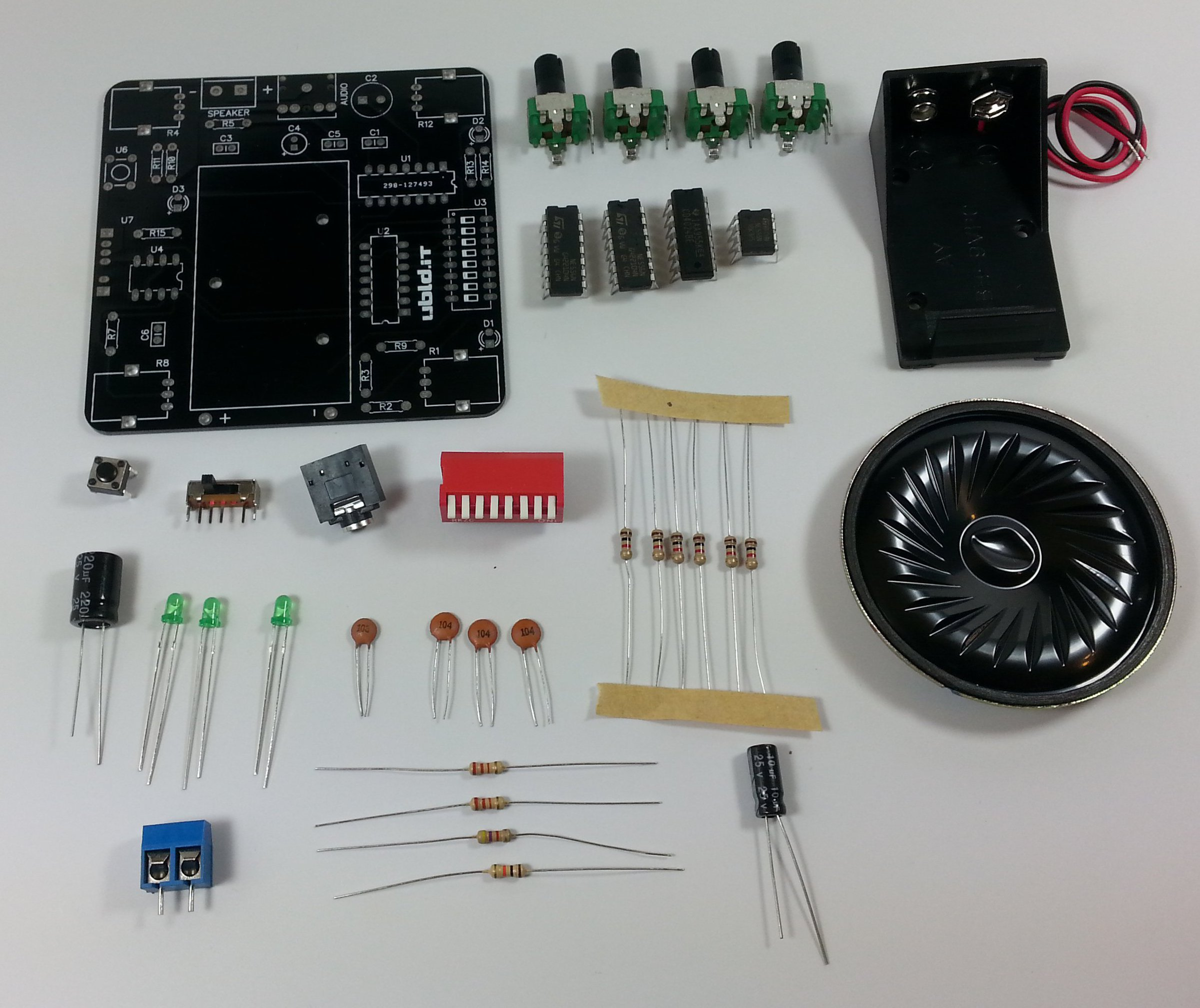 Atari Punkr Kit From Ubldit Electronics On Tindie Learn To Build The Punk Console Electronic Circuits 3