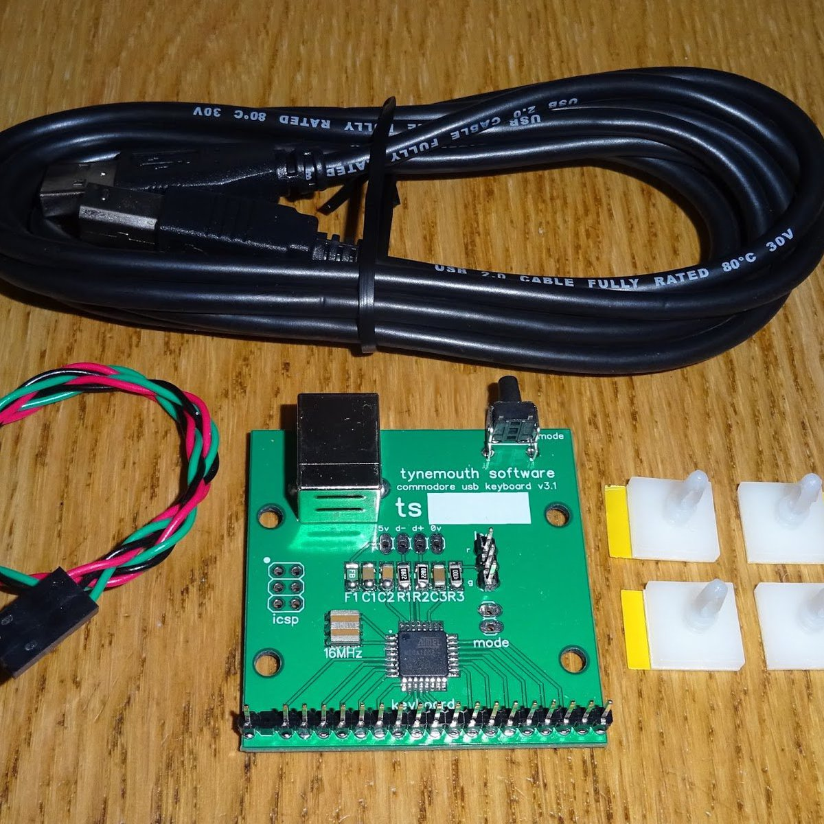 Commodore 64 USB keyboard kit from Tynemouth Software on Tindie