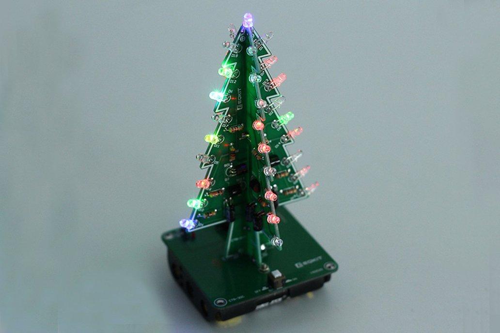 DIY 3D Xmas Tree 7 Color Flash LED Kits(7213) 1