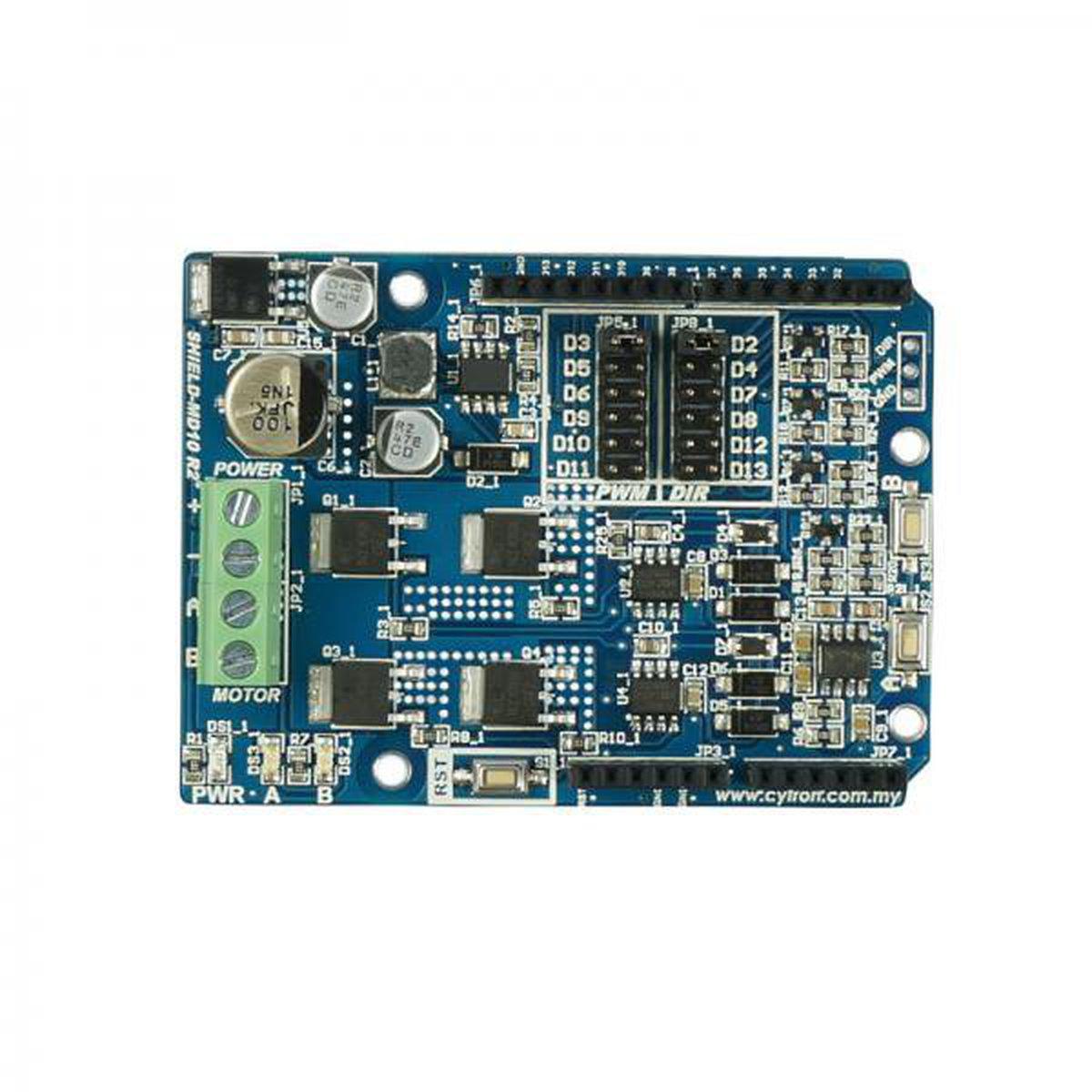 Cytron 10A Motor Driver Shield (Arduino) from Cytron Technologies on