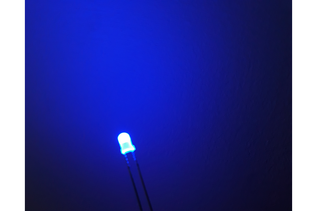 3 mm Blue LED Diffused Light Emitting Diode 1