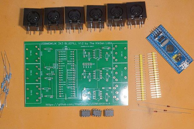 UMK DIY KIT - 3X3 CLASS COMPLIANT USB MIDI BOARD