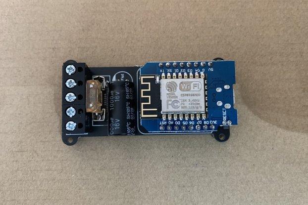 Wemos D1 Mini Breakout Board for WS2812 pixels