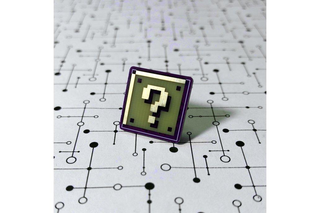 Super Mario Question Block PCB Lapel Pin 1