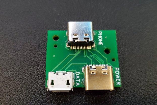 USB C Power/Data Splitter