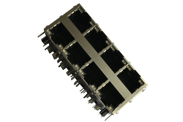 1000 Base-T 2x4 Ports RJ45 Magjack Connector