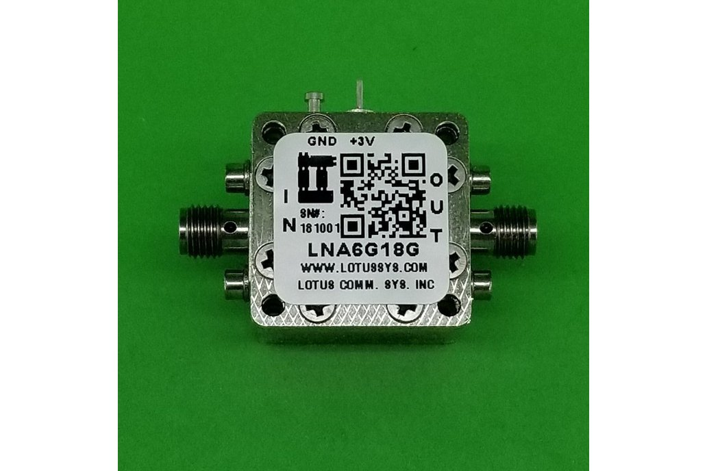 Amplifier LNA 1.5dB NF 6GHz to 18GHz 1