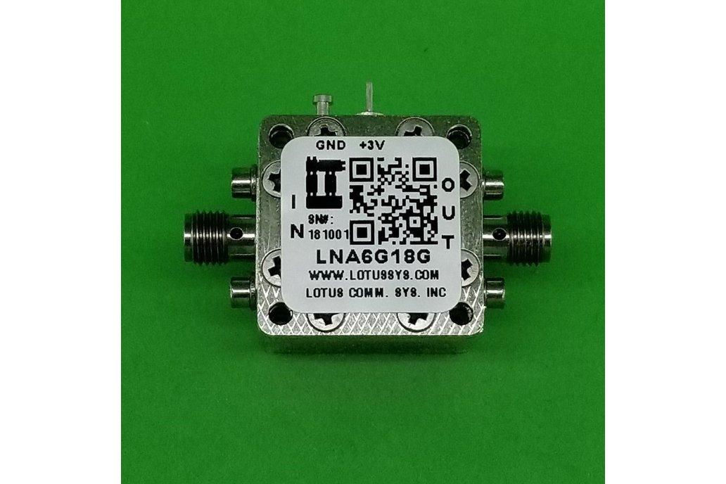 Amplifier LNA 1.5dB NF 6GHz to 18GHz 1