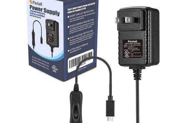 PASTALL RASPBERRY PI 4B POWER SUPPLY 5V 3A (USB-C)