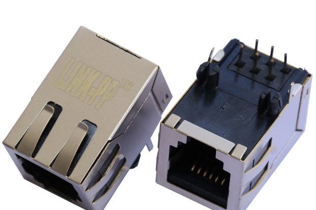 1X1 Port 6P6C RJ11 Modular Socket Female Connector