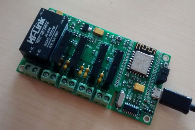 ESP8266 WiFi Quad SSR Board with 4 SSR for IOT